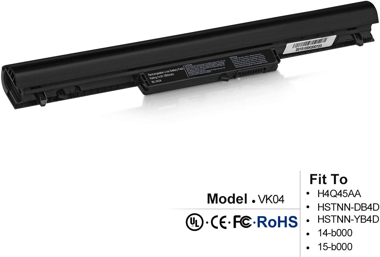 New VK04 695192-001 Laptop Battery for HP Pavilion Sleekbook 14-b000 15-b000 14-B109wm 14-b124us 14-b137ca 14-b150us 14-b173cl 694864-851 HSTNN-YB4D YB4D Battery