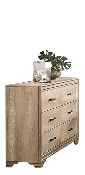 Landen Rustic Dresser - Madera blanqueada: Amazon.es ...