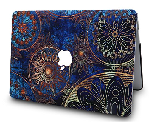 LuvCase 2 in 1 Laptop Case for MacBook Air 13 Inch A1466/A1369 (No Touch ID)(2010-2017) Rubberized Plastic Hard Shell Cover & Keyboard Cover (Bohemian Pattern)
