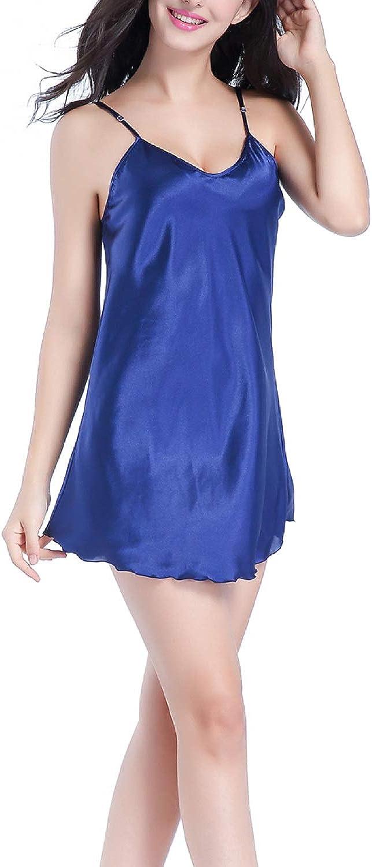 Besweeton Womens Nightgown Sleepwear Satin Chemises Full Slip Dress Nightshirt