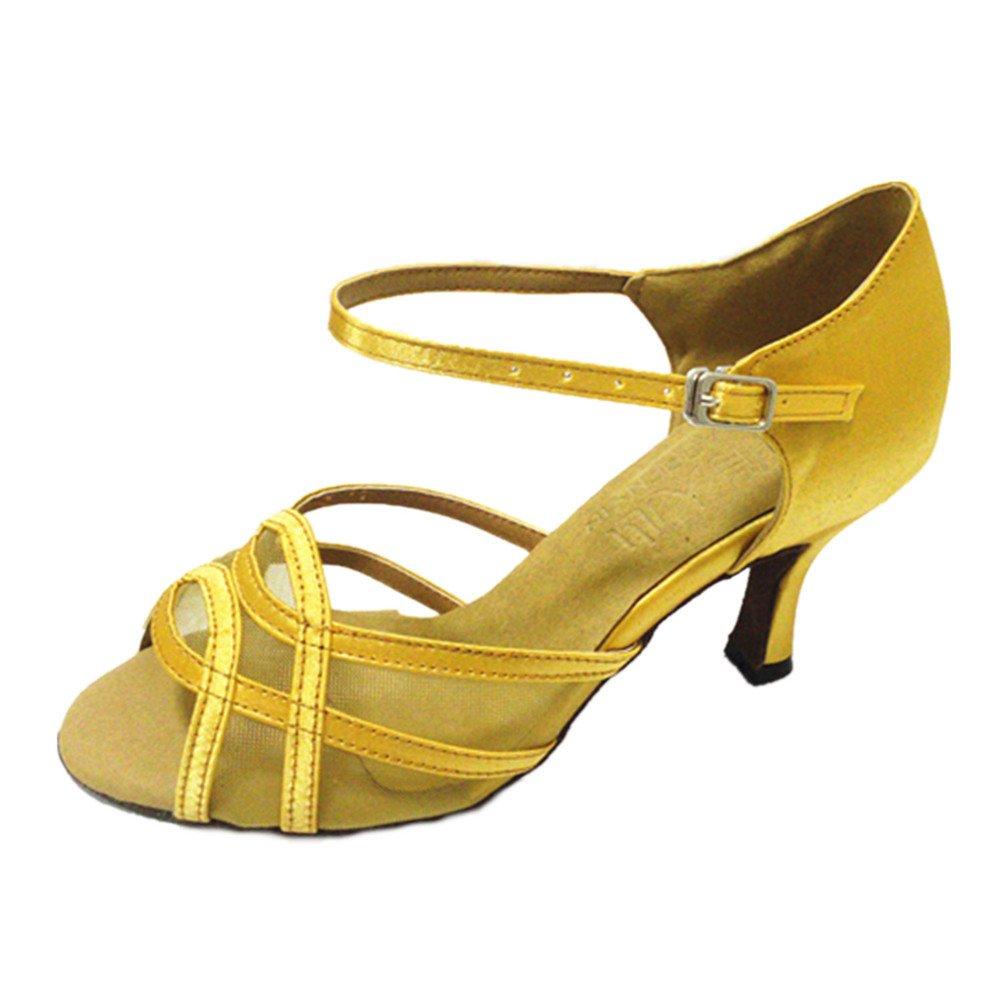 b9452529 GUOSHIJITUAN Mujer S 19914 Baile Hilo De Red Zapatos De De Baile Latino,Satén  Fondo Blando Tacón Alto Salsa Zapatos De Baile Tango Zapatos De Baile  Social A ...