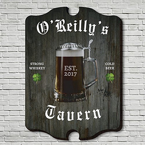 Old Tavern Sign - HomeWetBar Old Irish Tavern Personalized Wall Sign (Custom Product)