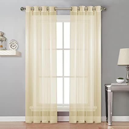 Amazon nicetown living room sheer curtains home fashion nicetown living room sheer curtains home fashion grommet top solid voile panels for patio door planetlyrics Images