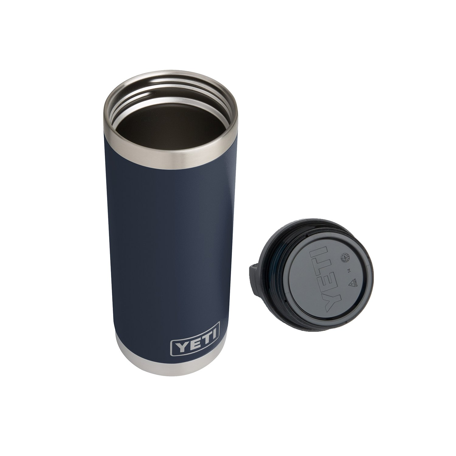 YETI Rambler 18 oz Stainless Steel Vacuum Insulated Bottle with Cap, Navy by YETI (Image #3)