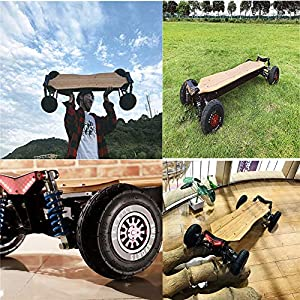 ARQANJ Planches À Skateboard Electrique Roue for Skateboard Longboard Electrique Tout-Terrain À Quatre Roues Motrices Système Suspension À QuatreRoues Indépendantes 50KM /H, Endurance 35KM