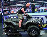 World Wrestling Entertainment - Stone Cold Steve Austin WrestleMania XXVII Action Photo 14 x 11in