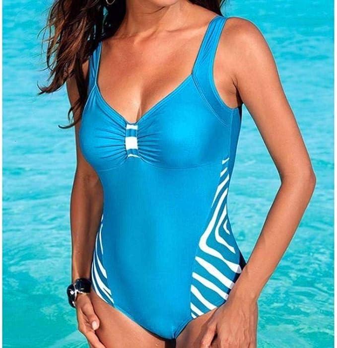 GRACE KARIN Costume da Bagno Un Pezzo Slim Attillata Capestro Bendare Rimovibile Modellante per Spiaggia Mare Piscina