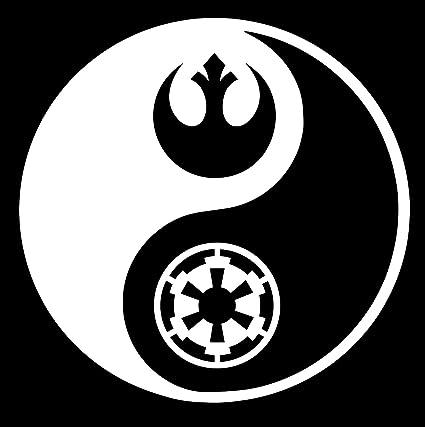 amazon com rebel and empire logo star wars inspired yin yang decal