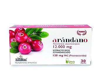 Nature Essential - Arandano Rojo 120 PAC. (Ext. Seco) 30 Capsulas Vegetales: Amazon.es: Salud y cuidado personal