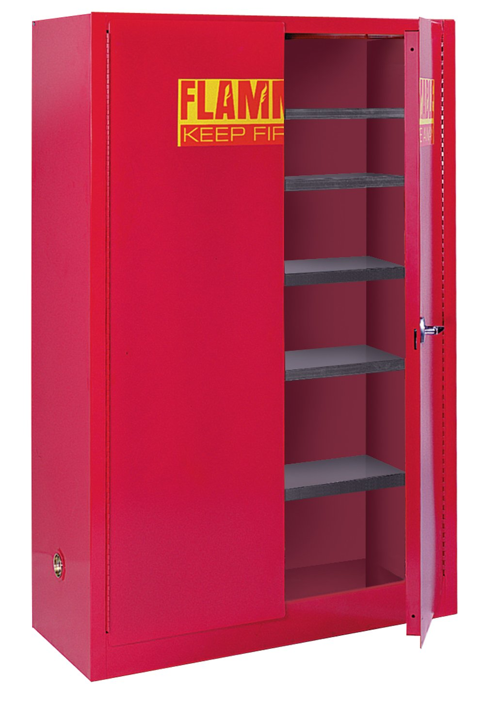 Sandusky Lee PC40 Red Steel Counter Height Paint and Ink Storage ...