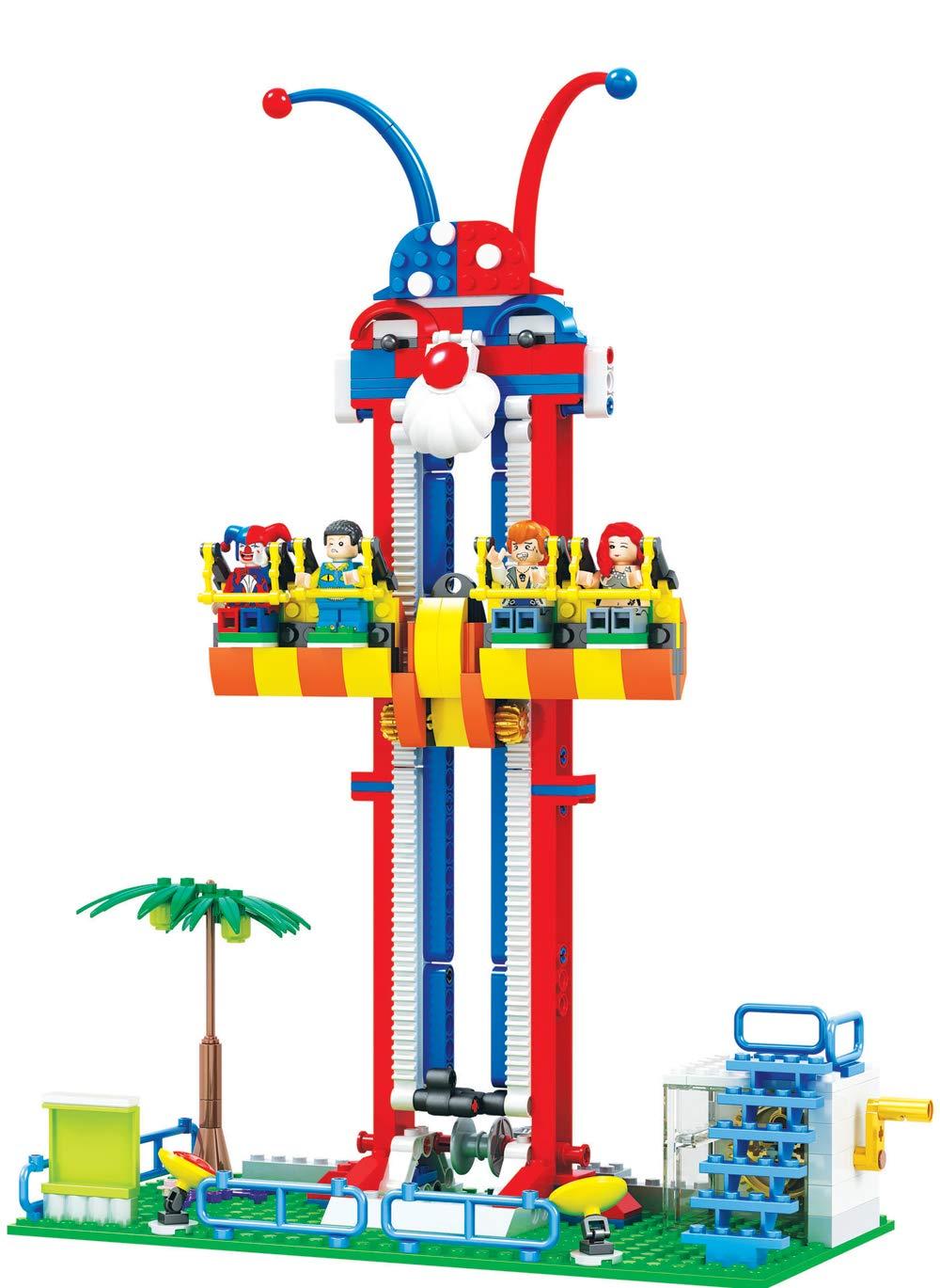 36 cm Modbrix Bausteine Free Fall Tower Kirmes Fahrgeschäft 337 Bausteine