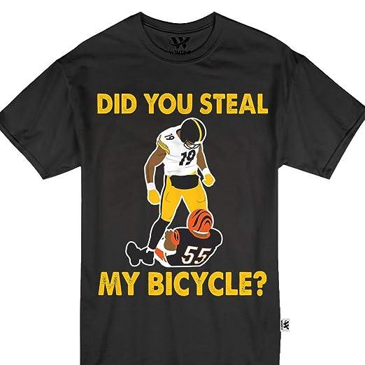 e5faf28a6 Amazon.com  Did You Steal My Bicycle Steelers Karma Juju Smith-Schuster  Tshirt  Clothing