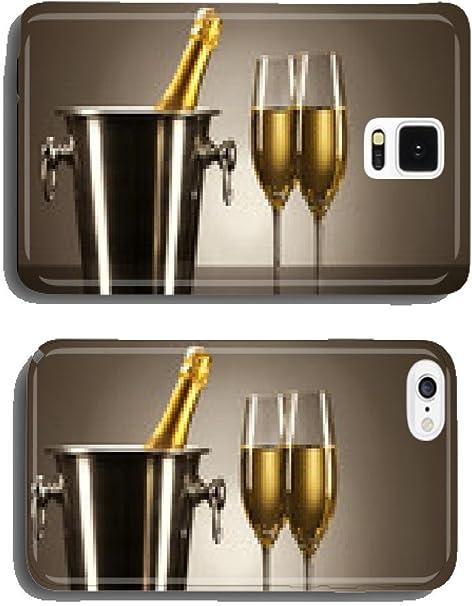 Dos copas de champagne con una botella de cava móvil cubierta caja parentitem: Amazon.es: Electrónica