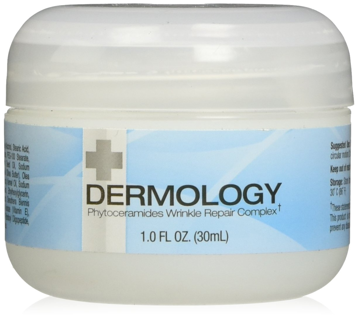 Dermology Anti Aging Cream Phytoceramides Wrinkle Repair Complex - Argireline and Hyaluronic Acid Moisturizing Cream - Supports Collagen Production - 1oz jar