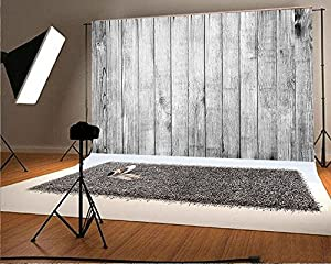 6.5x5 ft Photography Backdrop White Backdrops for Photography Wood Floor Wall Background for Photographyers NTZC-009