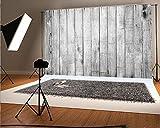 6.5x5 ft Photography Backdrop White Backdrops for Photography Wood Floor Wall Background for Photographyers NTZC-009