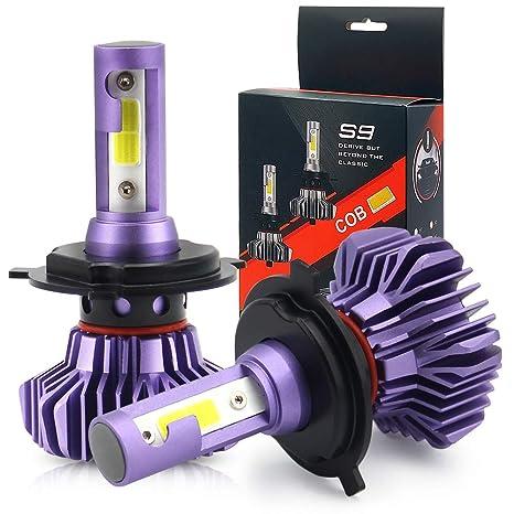 Bombillas LED H7 para faros delanteros de coche, kit de conversión todo en uno,