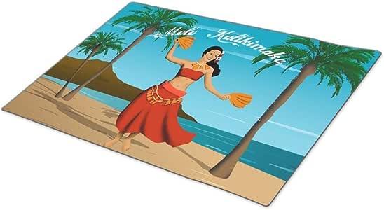 GB Plan Decorative Door Mats Hawaiian Vintage Mele Kalikimaka Postcard Funny Doormats