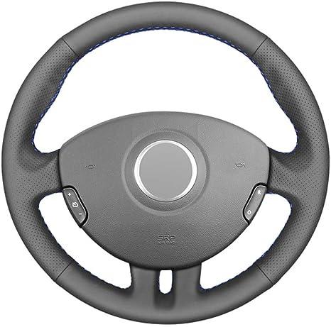 JIERS Voiture Housse pour Volant Couvre Volant, pour Renault Clio 3 2005-2013 Clio 3 RS 2005-2013