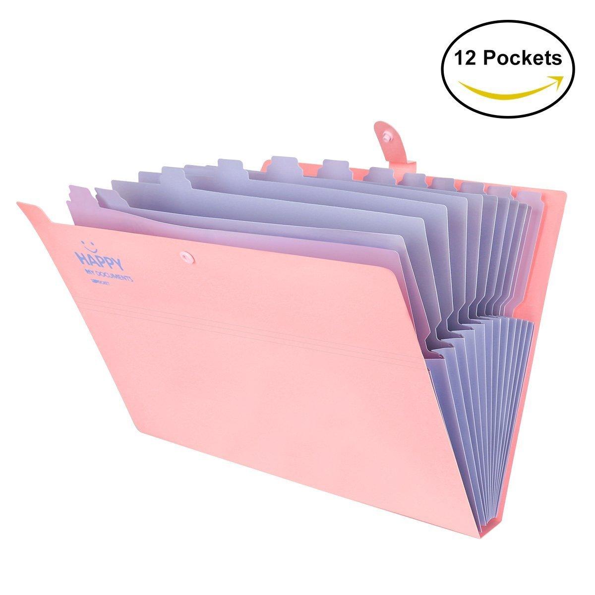 Trieur /à Soufflets Classeur Rangement A4 Documents Expanding File Folder Extensible Pocket Imperm/éable Organisateur de document File Organizer avec 5 Compartiments pour bureau,maison,/école,voyage