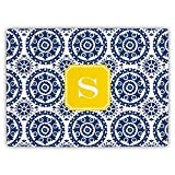 Boatman Geller Suzani Cutting Board with Single Initial, Z, Multicolored
