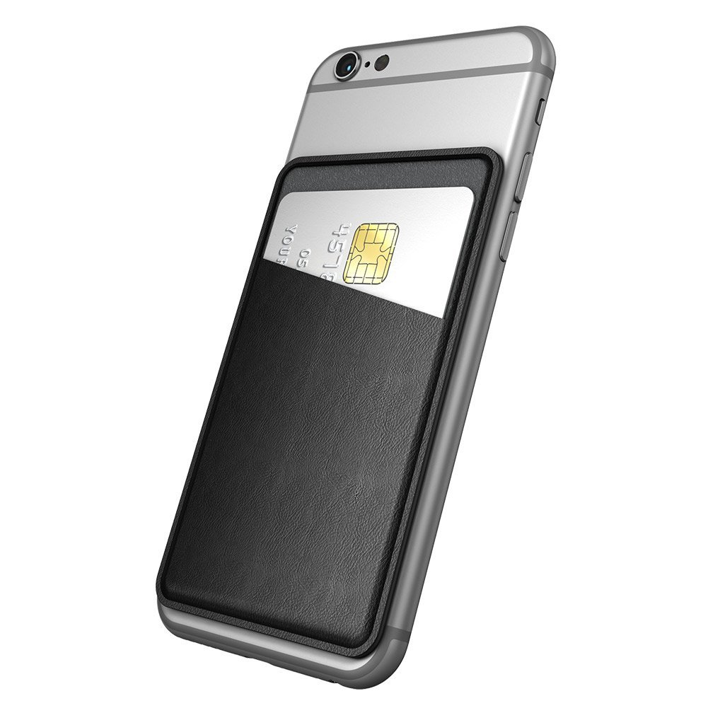 Dodocool Universal Stick-on Wallet Card Holder for Smartphones Ultra-slim Self Adhesive Black