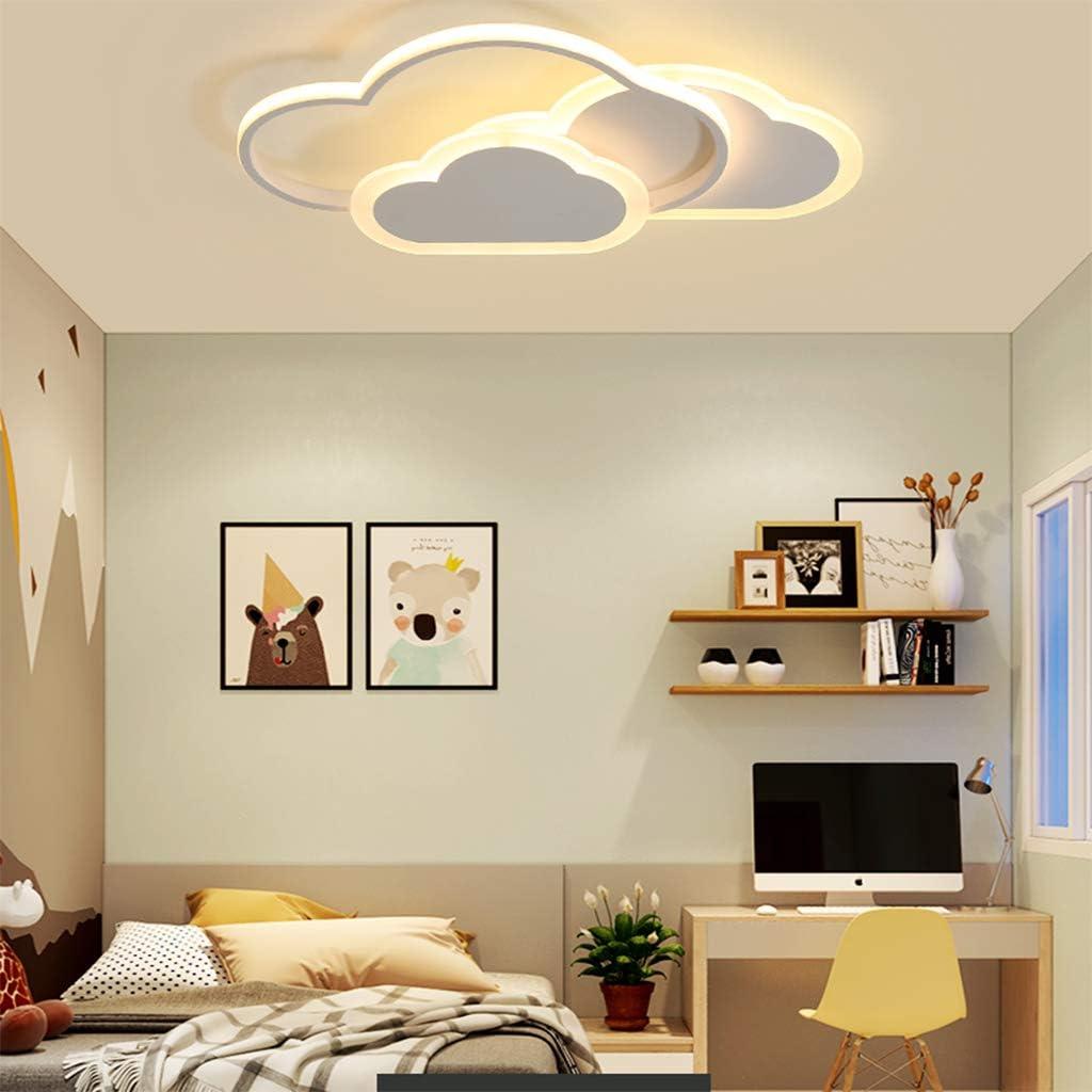 LED Deckenleuchte Kinderzimmer Lampe 32W Dimmbar Creative Wolken Deckenlampe mit Fernbedienung Junge und M/ädchen Ultrad/ünne Deckenleuchten Metall Acryl Design f/ür Kindergarten K/üche Schlafzimmer Lampe