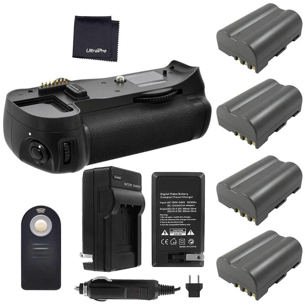 バッテリーグリップバンドルF / Nikon d600、d610 : Includes mb-d14交換用グリップ、4-pk en-el15長寿命、バッテリー充電器、Ultrapro Accessoryバンドル   B00KLDBEGA