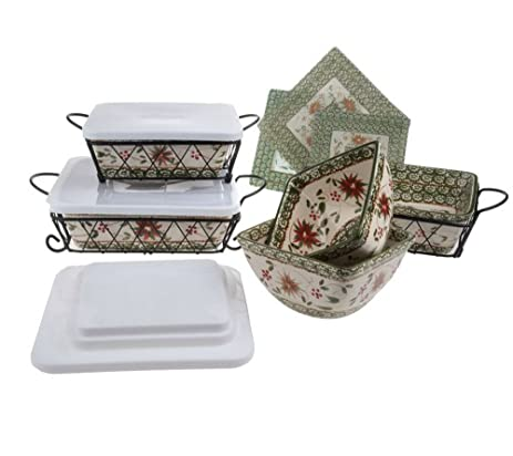 Temp-tations Old World Oven-to-Table Bakeware Set (Old World Poinsettia  sc 1 st  Amazon.com & Amazon.com: Temp-tations Old World Oven-to-Table Bakeware Set (Old ...