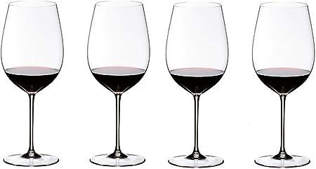 Riedel Auguri Crystal Glass Red Wine 8 Oz Set Of 4 Kitchen Dining Amazon Com