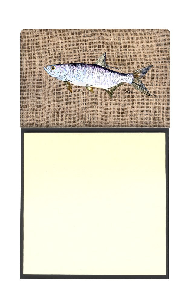 Multicolor Carolines Treasures Fish-Tarpon Refillable Sticky Note Holder or Postit Note Dispenser 3.25 by 5.5