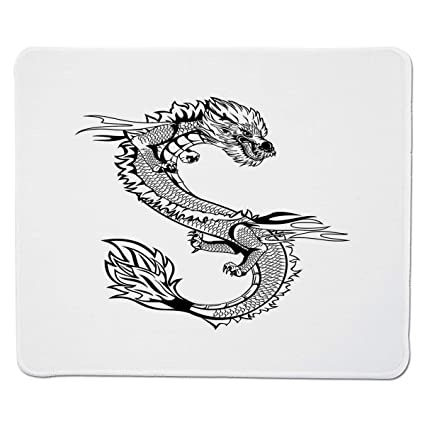 ea472fd7ffca9 Amazon.com : Yanteng Gaming Mouse Pad Japanese Dragon, Ancient Far Eastern  Culture Esoteric Magical Monster Symbolic Thai Style Decorative, ...