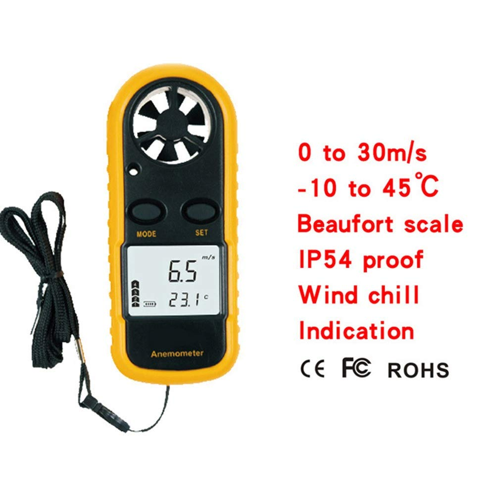 Color Lorachun Digital Anemometer Hand-held Wind Speed Wind Temperature Meter Wind Test Instrument