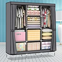Generic New Super Large Folding Clothes Garment Portable Wardrobe Closet Storage Cabinet
