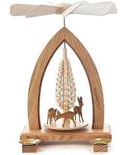 1 tier german christmas pyramid deer 25cm 10 inch dregeno seiffen - German Christmas Pyramid Kit