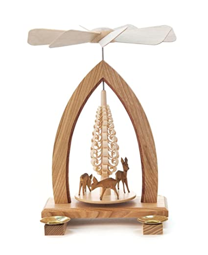 1 tier german christmas pyramid deer 25cm 10 inch dregeno seiffen