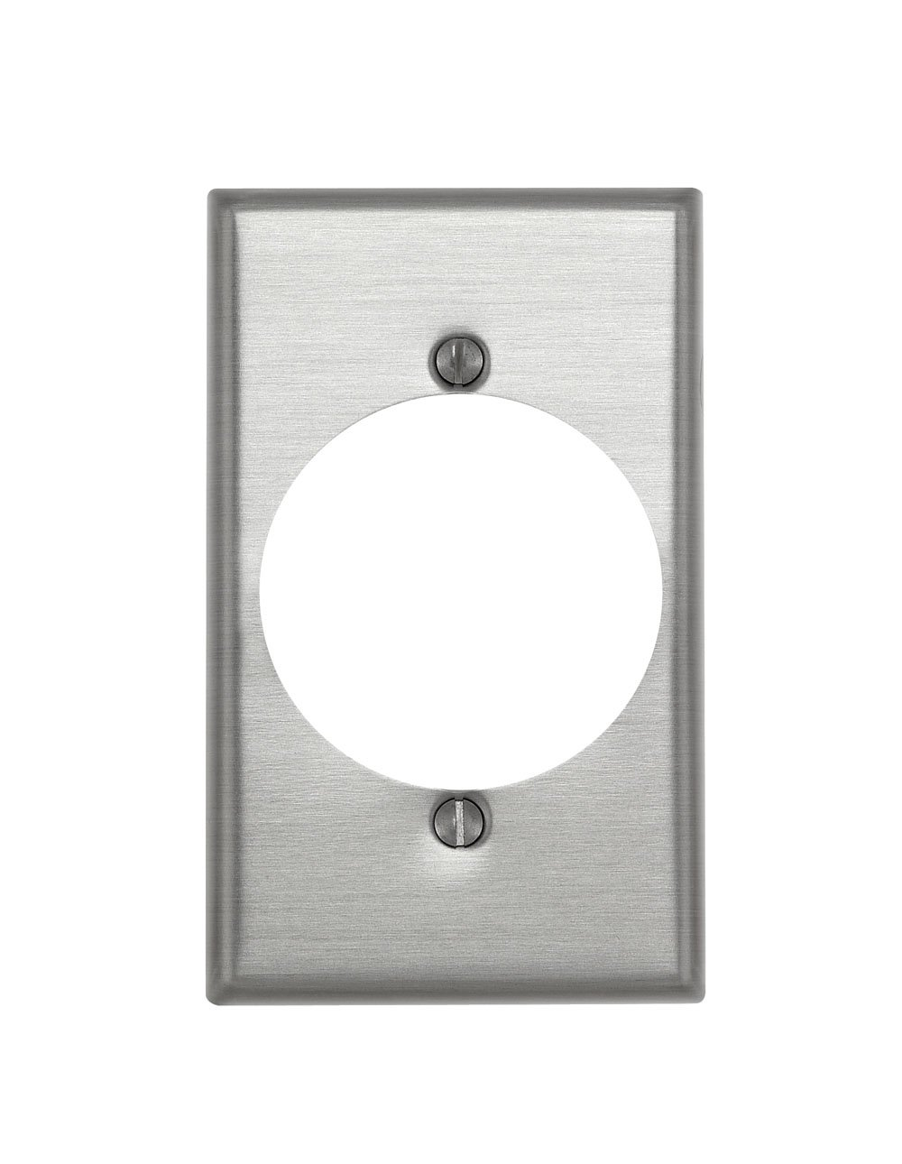 Leviton 83028 000-000 Receptacle Standard Size Wall Plate, 1 Gang, 4-1/2 in L X 2-3/4 in W 0.187 in T, Satin, Standard, Aluminum