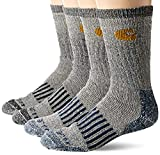 9. Carhartt Men's 4 Pack Thermal Wool Blend Boot Sock, dark assorted, Shoe Size: 6-12