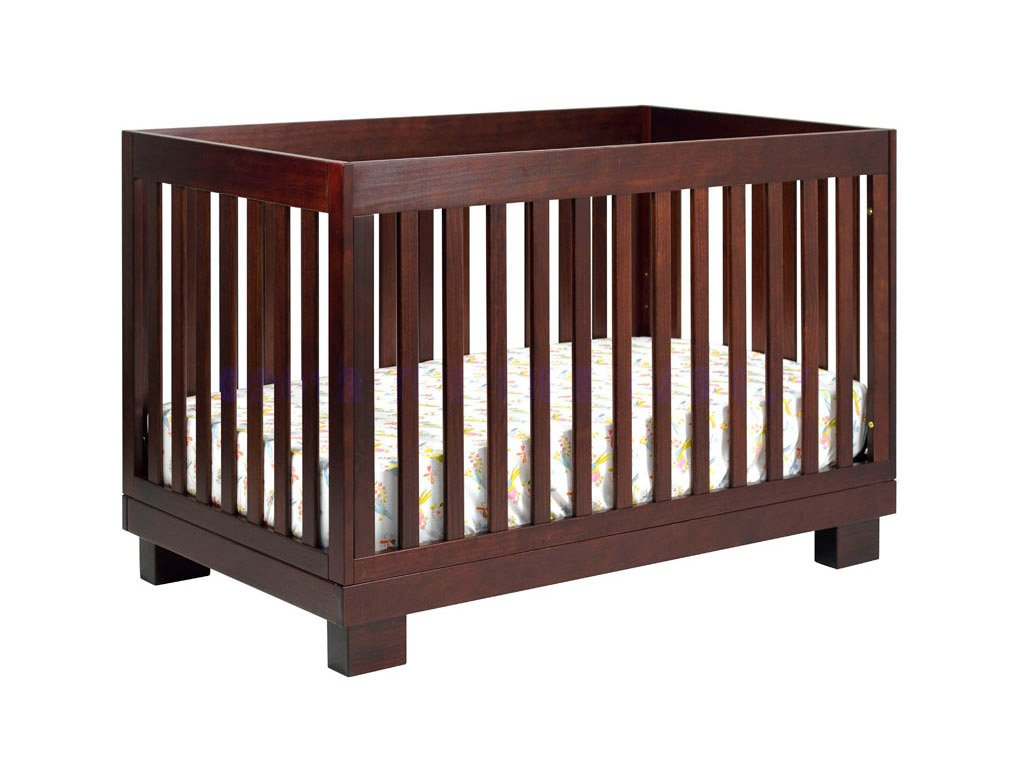 Babyletto Modo 3-in-1 Convertible Crib with Toddler Bed Conversion Kit, Espresso M6701Q