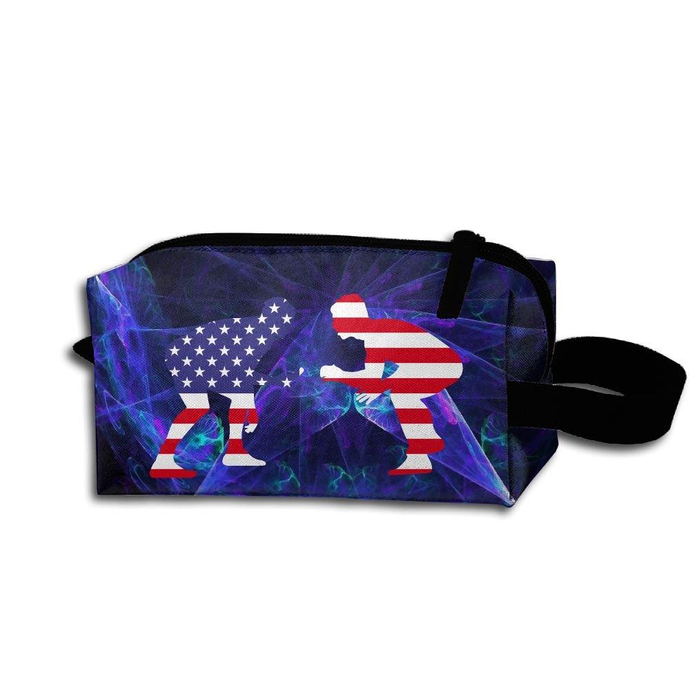 American Wrestling Proud Wrestler Travel Cosmetic Bag Portable Organizer Multifuncition Handbag