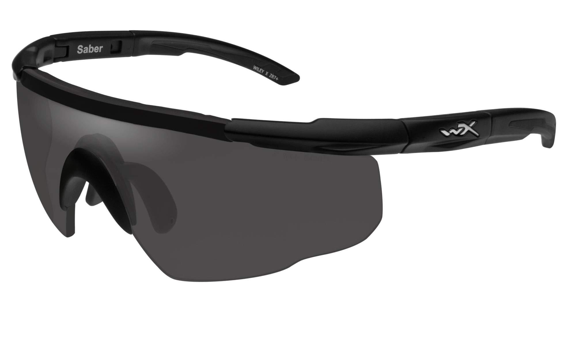 Wiley X Saber Advanced Sunglasses, Smoke Grey, Matte Black by Wiley X