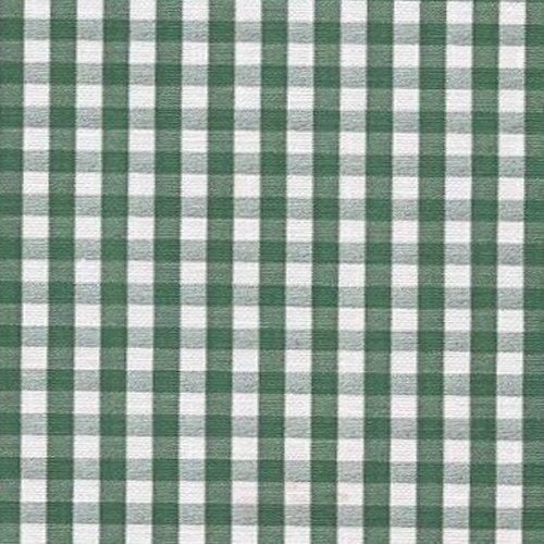 Hunter Green Gingham Check Series F0253 Vinyl Tablecloth 54