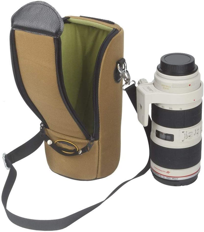 TOMSSL Telephoto Head Special Lens Package Nylon Fabric Lens Barrel Brown Size Diameter 13cm High 26cm Beautiful,