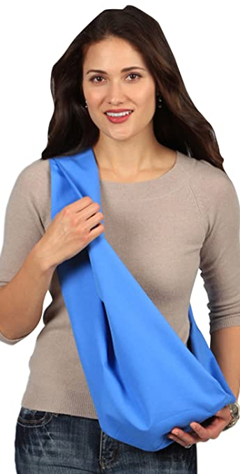 2a93c32239a Amazon.com   HugaMonkey Travel Outdoor Cotton Infant Newborn Baby Sling  Carrier - Blue