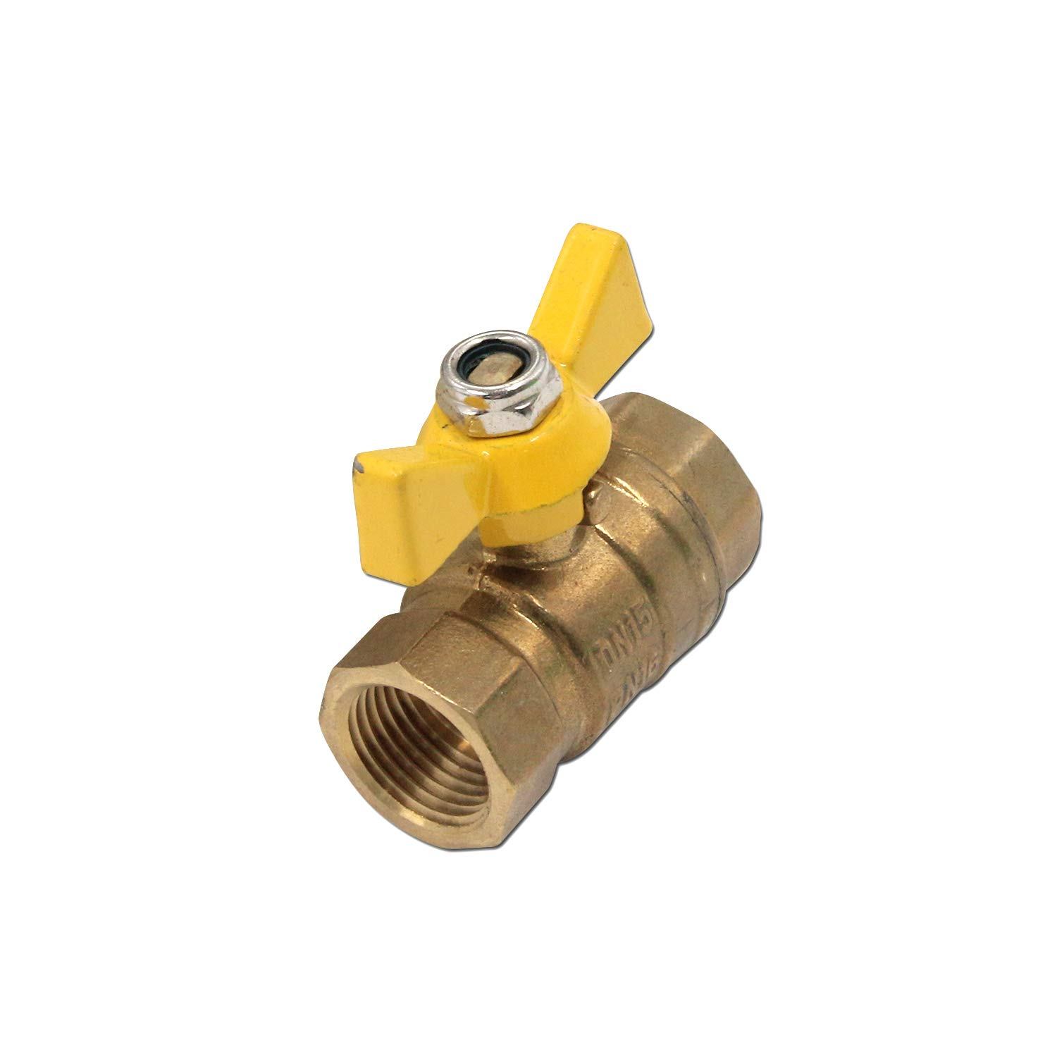 Tulead Ball Valve Mini Brass Valve Gas Valve Shut Off Tool 1/2