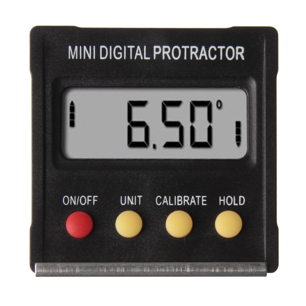Alloet New 360°Mini Digital Protractor Inclinometer Angle Meter with Magnetic Base