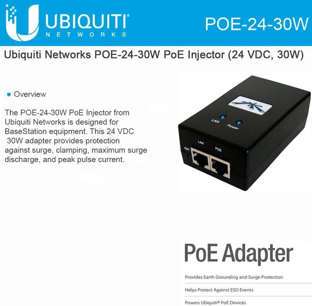 Ubiquiti Poe 24 30w Gigabit Ethernet Poe Adapter 24 V Computer Zubehör
