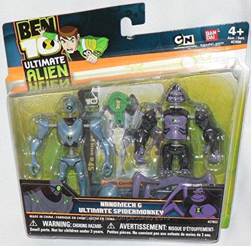 Ben 10 Alien Creation Chamber Figure Set: Ultimate Spidermonkey and Nanomech