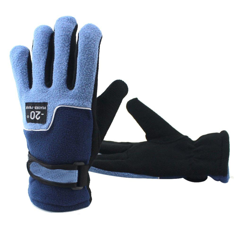 Dulee冬Keep Warmフリース手袋アウトドアサイクリンググローブ登山グローブ  ブルー B07FM38NSK