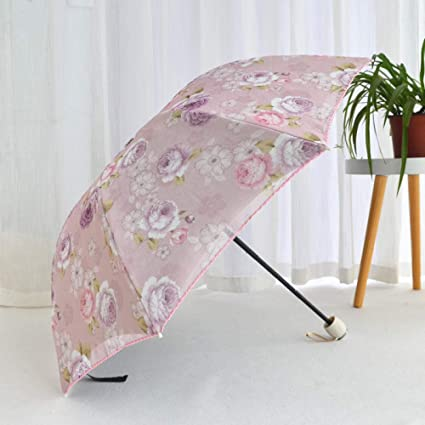 deep Blue Radiation/Protection,UV/Protection,Rust/Prevention,Wind/Protection. YSCY Portable/Umbrella Sun Umbrella Sun Protection UV Umbrellas Three Folding Manual Windproof Dual-use Umbrella